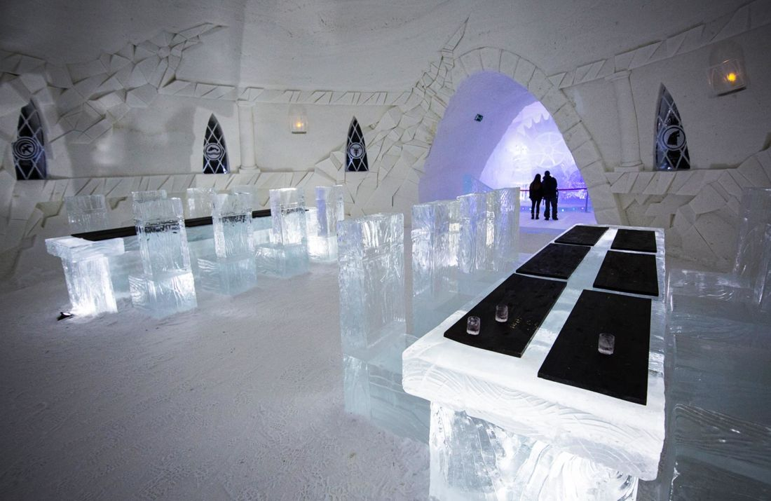 visite guid e dans un h tel de glace game of thrones en laponie. Black Bedroom Furniture Sets. Home Design Ideas