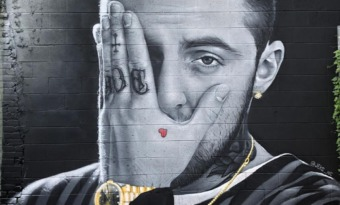 mac miller fresque graffiti mort