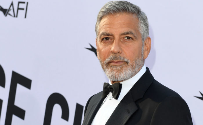hommes à barbe georges clooney