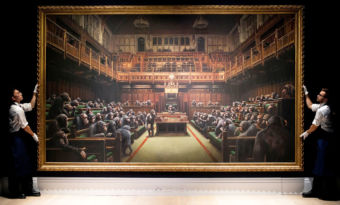 banksy parlement singes