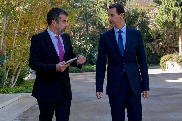 Bachar-el Assad avec le journaliste de Paris Match