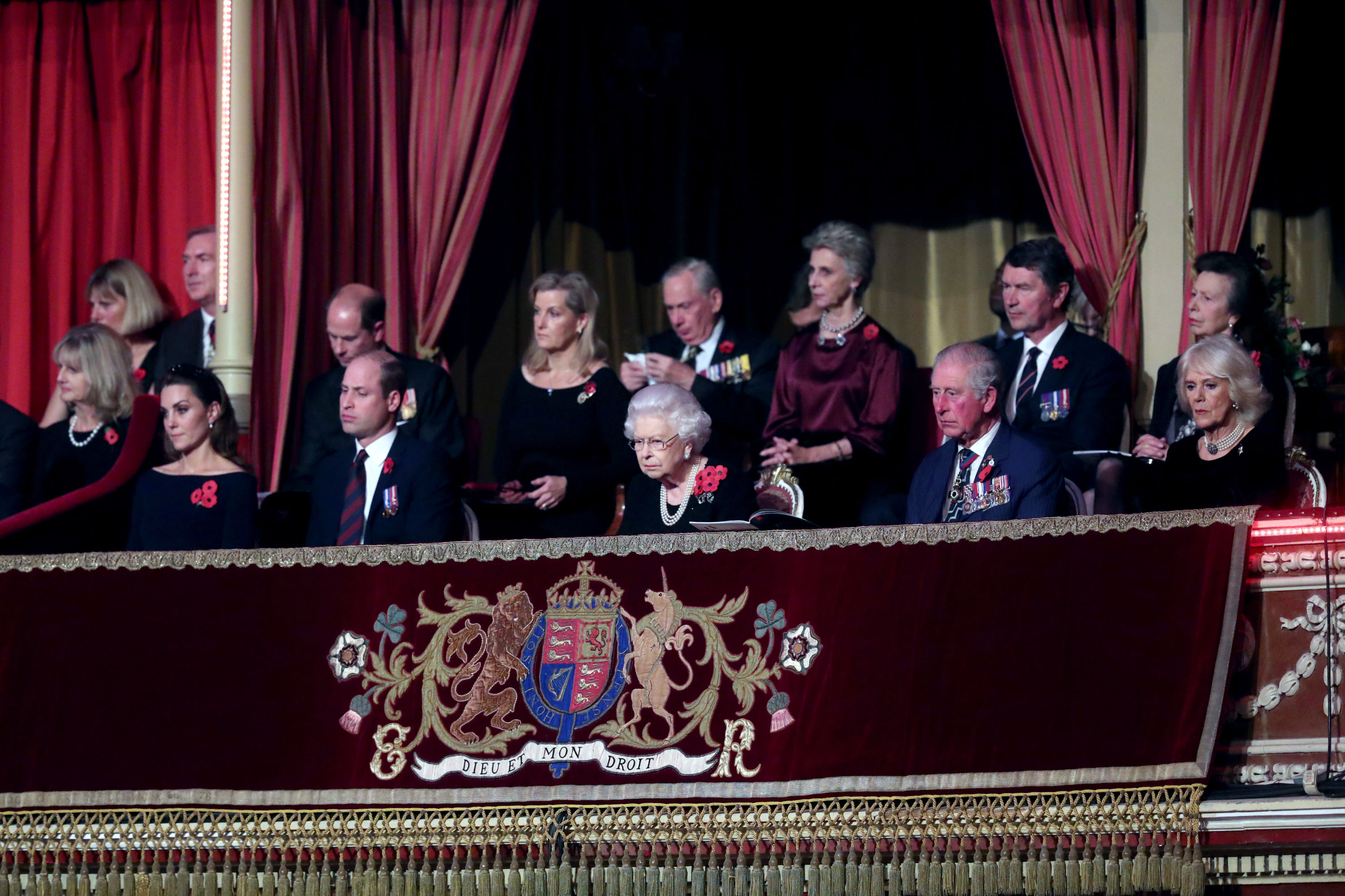 Famille royale britannique au Festival Remembrance