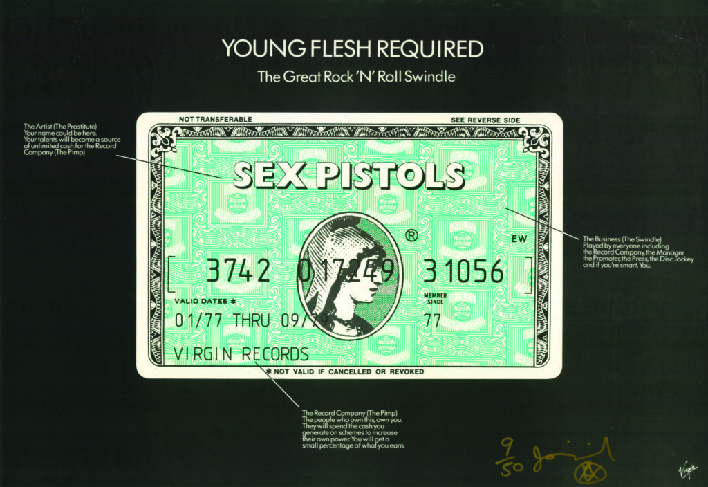 Affiche des Sex Pistols, Young Flesh Required