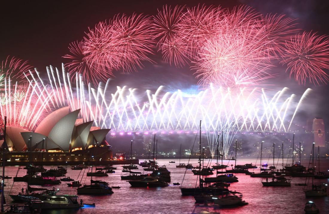 Feux d'artifice à Sydney