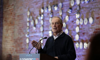 le candidat démocrate Michael Bloomberg