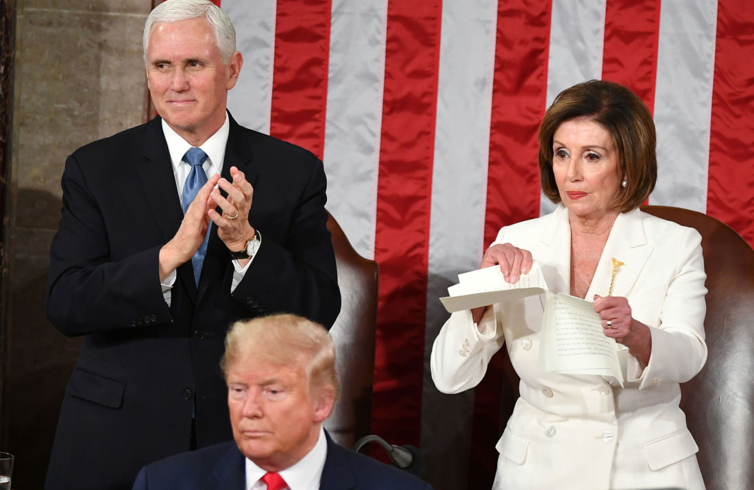 État de l'Union Donald Trump Pelosi