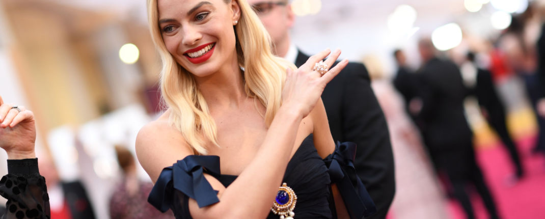 Margot Robbie sur le tapis rouge.