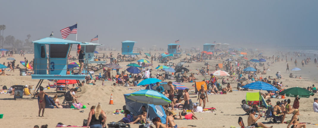 californie plage coronavirus confinement