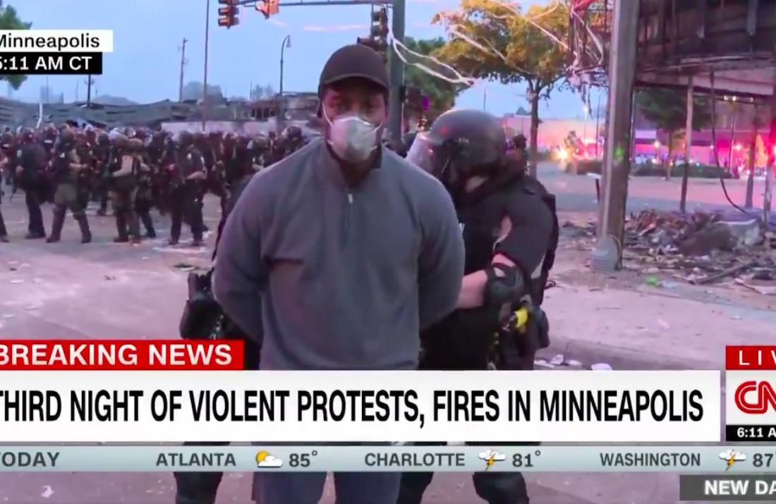 omar jimenez arrestation direct cnn minneapolis