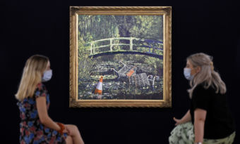 claude monet banksy