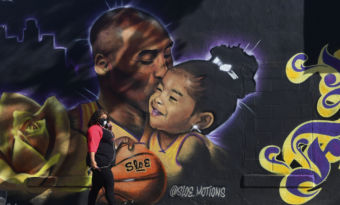 kobe bryant mort fresques los angeles