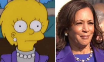 lisa simpson kamala harris tenue investiture